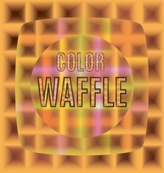 Colored waffles one after another vector