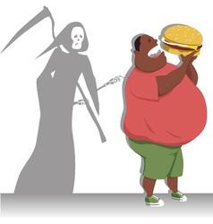 danger overeating vector image