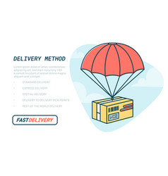 delivery service concept flat outline design vector image