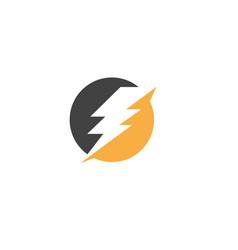 flash thunderbolt template icon design vector image