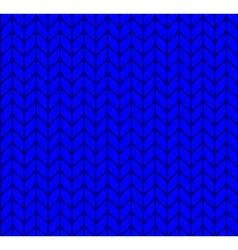 Flat knitting seamless pattern vector image
