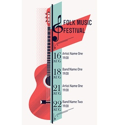 Folk Music Festival Banner Template vector