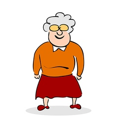 Funny elderly lady with glasses vector