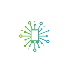 Gadget share logo icon design vector