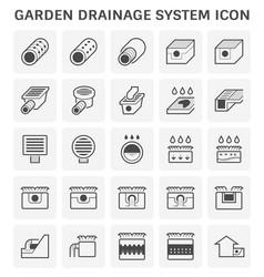 Garden drainage icon vector