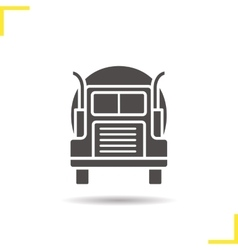 Gasoline tank truck icon vector