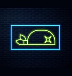 Glowing neon line pirate bandana for head icon vector