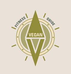 go vegan logo concept vector image