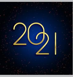 Golden 2021 happy new year glitter background vector