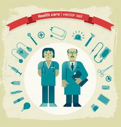 Hand drawn doctors vector
