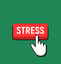 hand mouse cursor clicks the stress button vector image