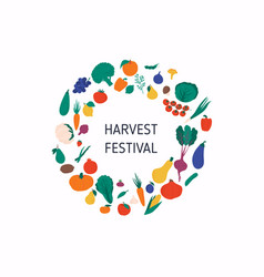 harvest festival banner with autumn vegetables vector image