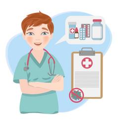 Health care online coronavirus medicine doctor vec vector