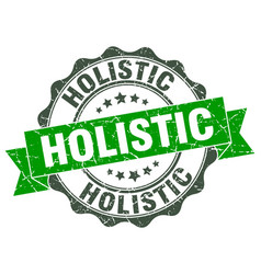 Holistic stamp sign seal vector