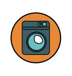 Home appliance washer machine isolated icon vector