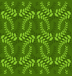 Leaves seamless pattern green leaf ornament vector