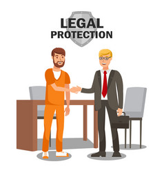 Legal protection services flat banner template vector