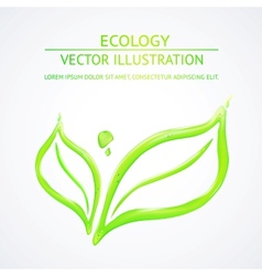 Liquid green leaves vector image