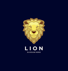 logo lion head colorful style vector image