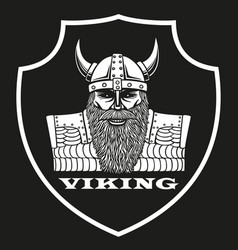 logo with a portrait of a viking vector image