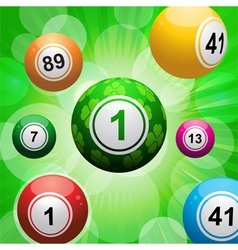 Lucky clover bingo ball burst vector