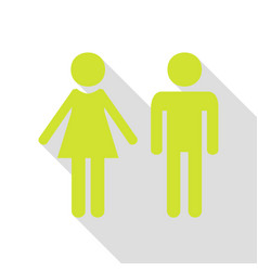 male and female sign pear icon with flat style vector image