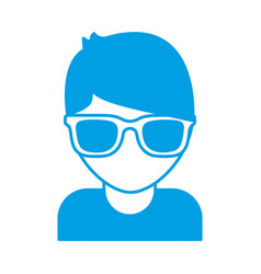 Man with sunglasses icon vector
