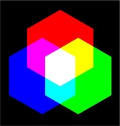 Mix colors vector