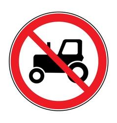 no tractor road sign vector image