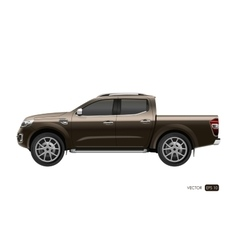 Off-road car on white background vector image