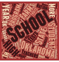Oklahoma Schools Better Than Ok text background vector