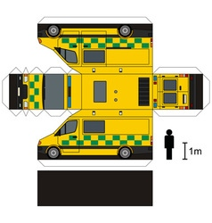 Paper model of an ambulance vector