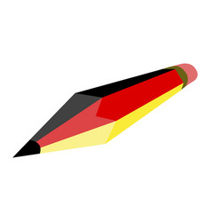 pencil with the flag of germany vector image