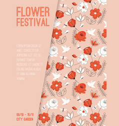 poster flower festival at city garden vector image