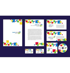 Professional corporate identity design brandbook vector