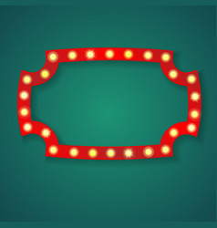Red light frame with shadow vector