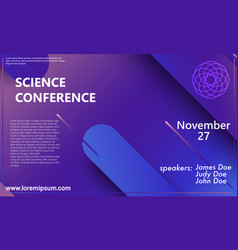 science conference invitation design template vector image