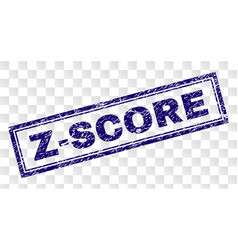 scratched z-score rectangle stamp vector image