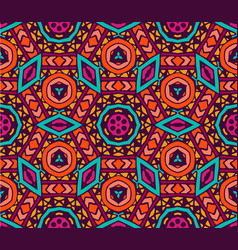 seamless colorful geometric print vector image