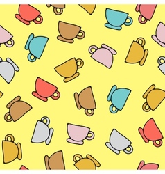 seamless pattern of cups vector image