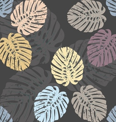 Seamless pattern with elegant monstera leaves 1 vector