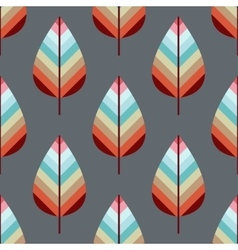 Seamless pattern with leafs eps10 vector