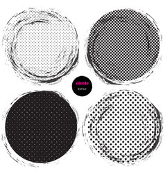 set of 4 circles design elements for background vector image