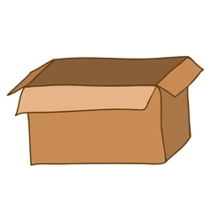 Silhouette with box of cardboard opened vector