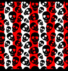 Skull pattern on a striped background vector