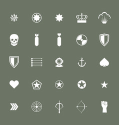 small military army war icons collections vector image