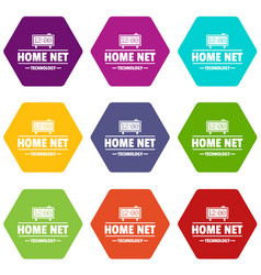 smart time icons set 9 vector image
