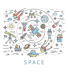 Space Line Round Composition vector image