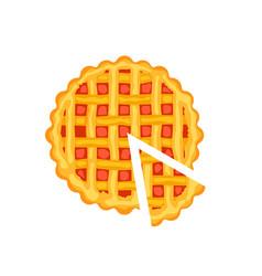 Tasty pie isolated icon vector