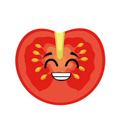 tomato vegetables comic character vector image
